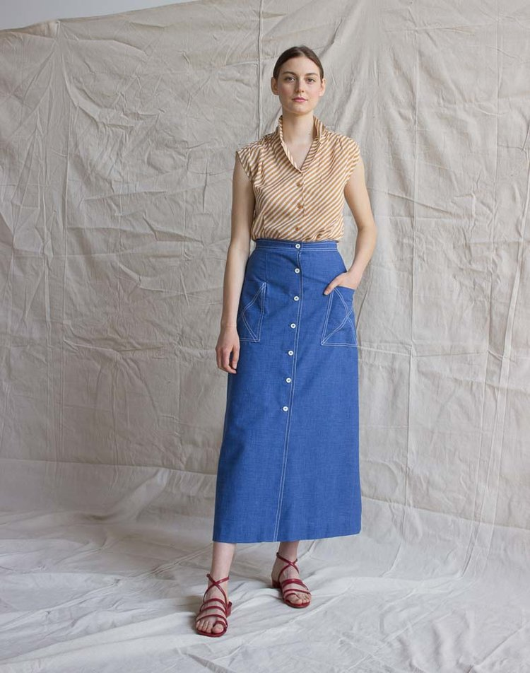 A Part of the Rest recommends Wayward Collection Vintage 1970s Denim Skirt.jpg