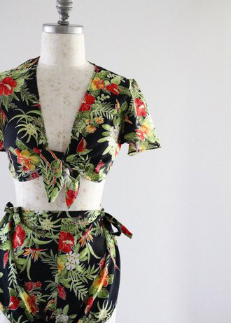 A Part of the Rest recommends- vintage summer get away tropical crop top set - .jpg