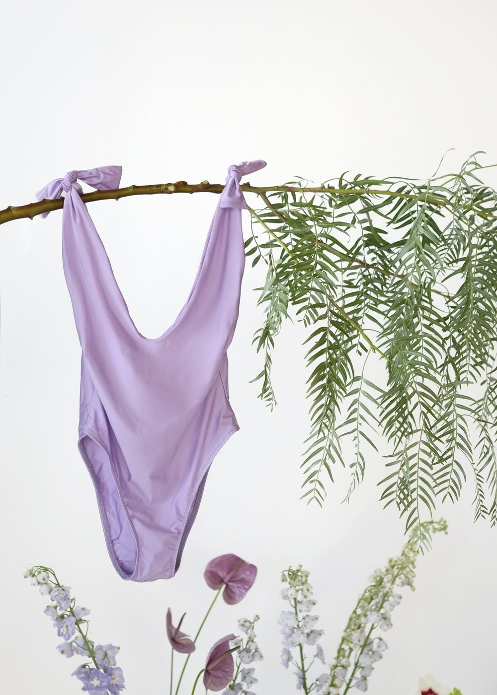 A fun summer suit - I've been obsessed with the Sidway Anderson one piece for a while now, and this lavender color has me swooning this season. Made in small batches in DTLA