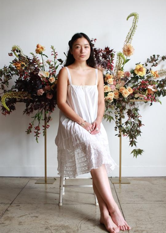 An easy cotton slip dress - I love an esy slip dress to live in all summer ling. To throw on when I don't feel like actually getting dressed and throw on with sandals and a pretty scard or use it as a beach cover up. Airy and easy to beat the heat. We love this piece from Blossom Vintage be sure to checkout our interview with owner, Jamie Lee in SHOP TALK