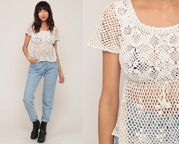 UNDER $50 - That 90s style babydoll in a summer crochet