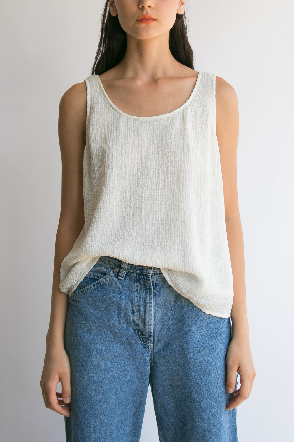 A Part of the Rest Vintage Style Nostalgia_Christie_Brinkley_Lampoons_I_am_that_shop_textured_tank.jpg