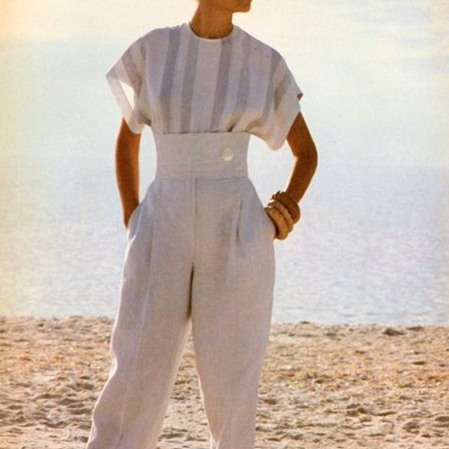 Sunday scenes. 1980s Perry Ellis #inspiration