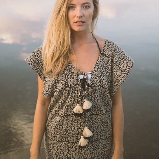 The Hannah batik gauze tunic for easiest weekend dressing. Limited quantity online now