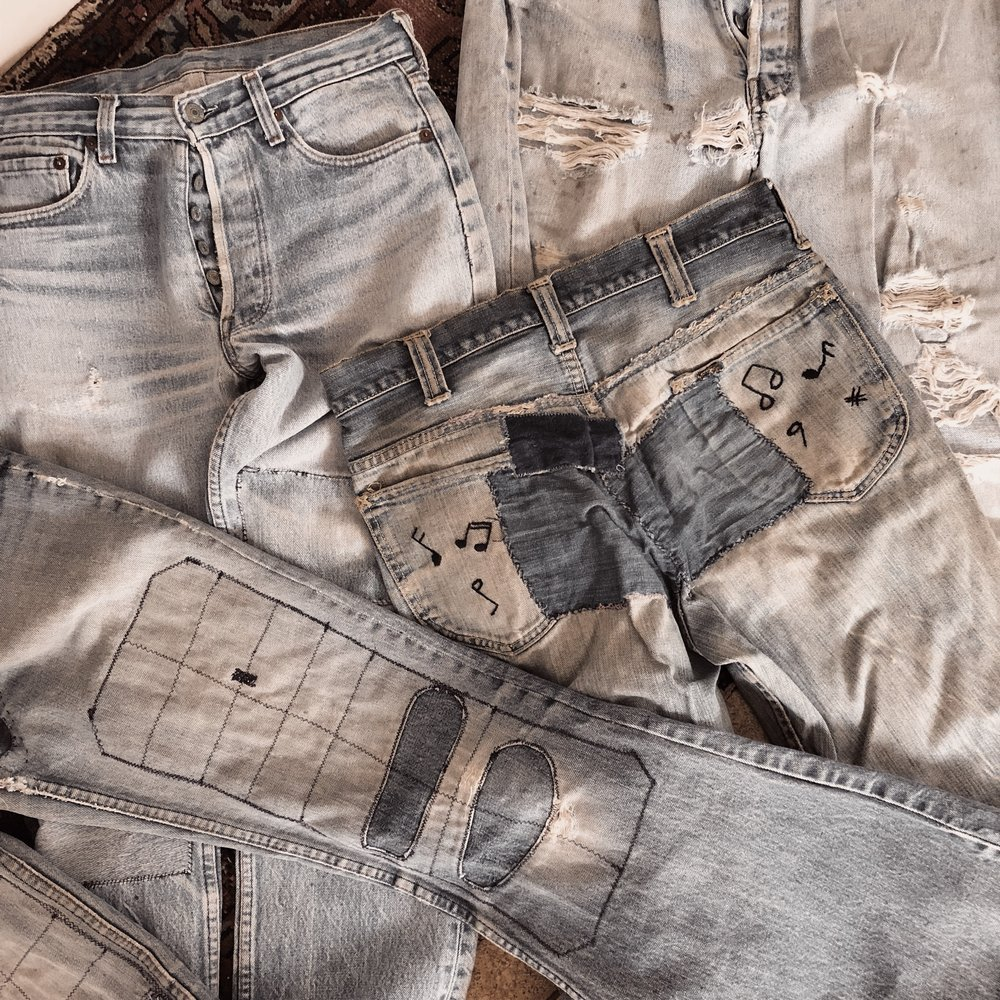 Just a peek at some of the incredible pieces of vintage denim available at Noir Ohio