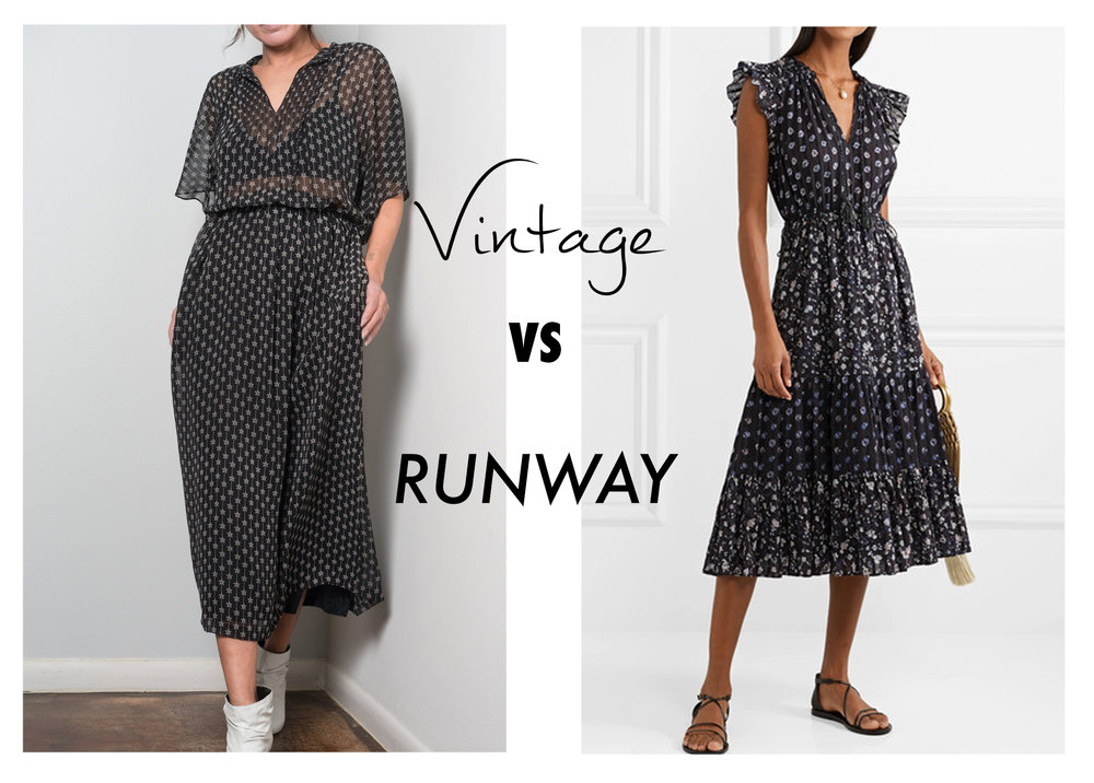 Vtg vs runway - Ulla Johnson black white dress.jpg