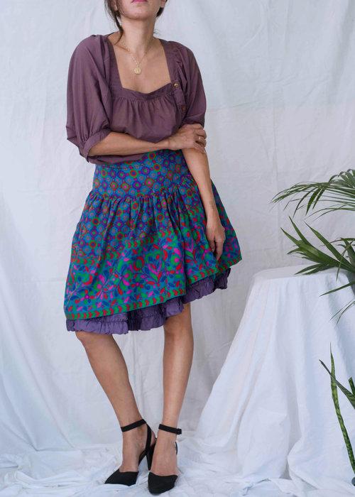 103fc2043d 1970s// SAINT LAURENT Rive Gauche Russian Collection Skirt// S ...
