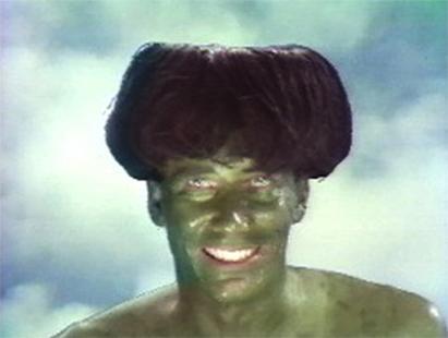 """Mike Kelley in """"Kappa,"""" 1986."""