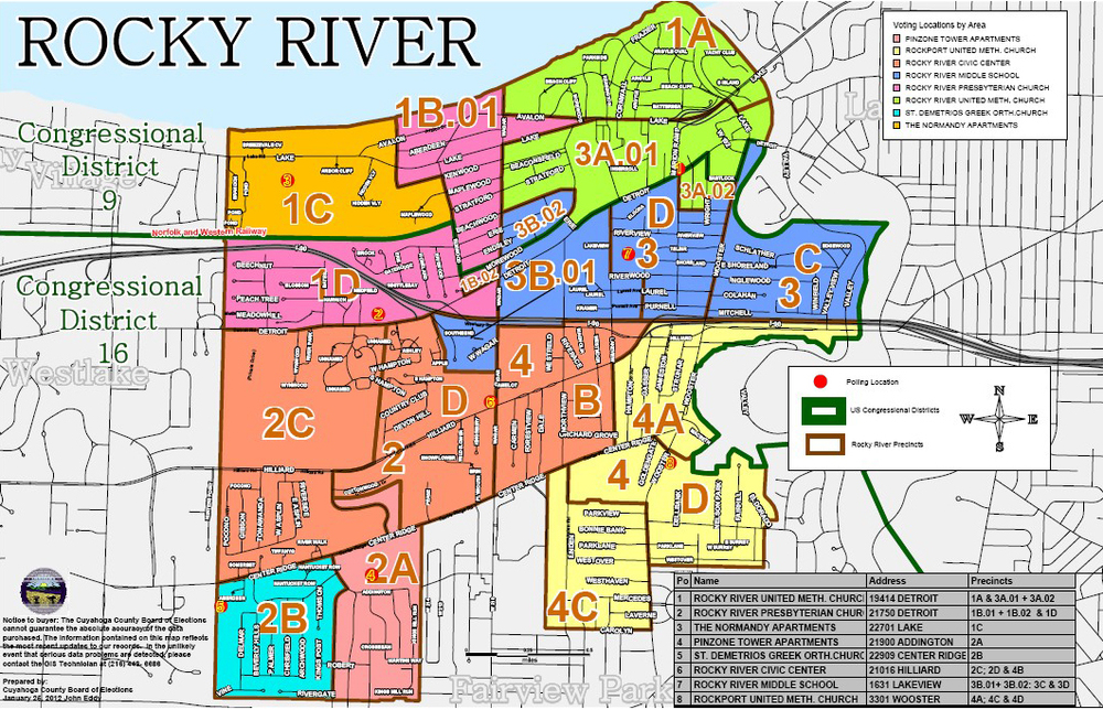 Map Of Ohio Cities And Counties.City Maps City Of Rocky River Ohio