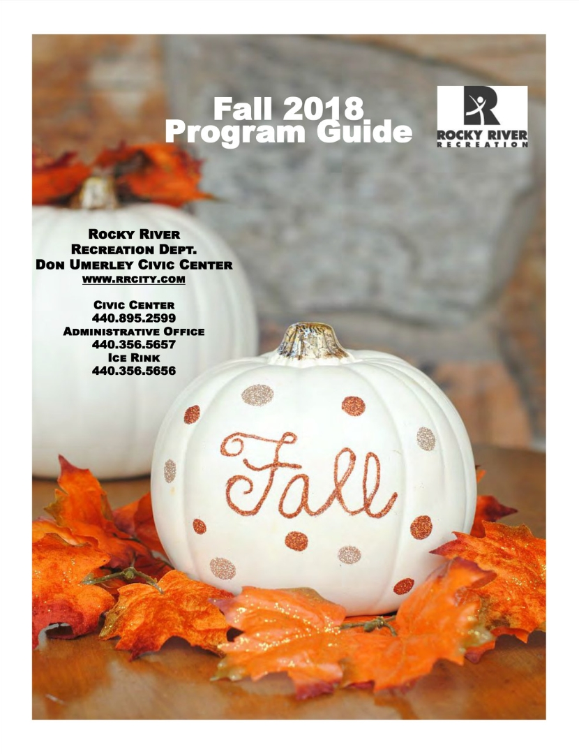 Click Image for the Recreation Department Fall 2018 Program Guide