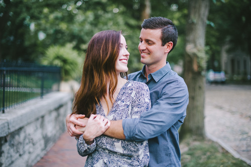 Lockerbie Square Engagement Session Indianapolis Wedding Photographer Erika Aileen