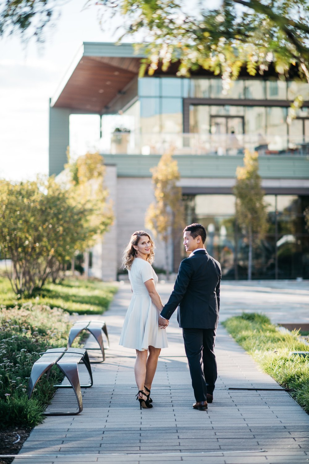 Downtown Indianapolis Engagement Session Indianapolis Wedding Photographer Erika Aileen