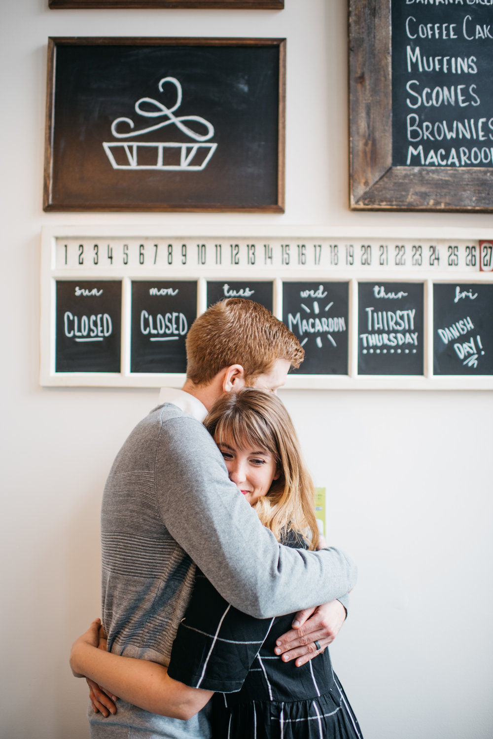 Modern Bakery Engagement Session Greenhouse Erika Aileen Photography Lafayette Indiana Wedding Photographer