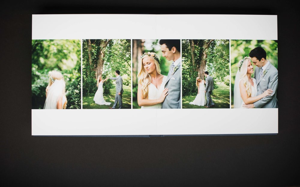 Why Get a Wedding Album Erika Aileen Photography Indianapolis Wedding Photographer Linen Wedding Album