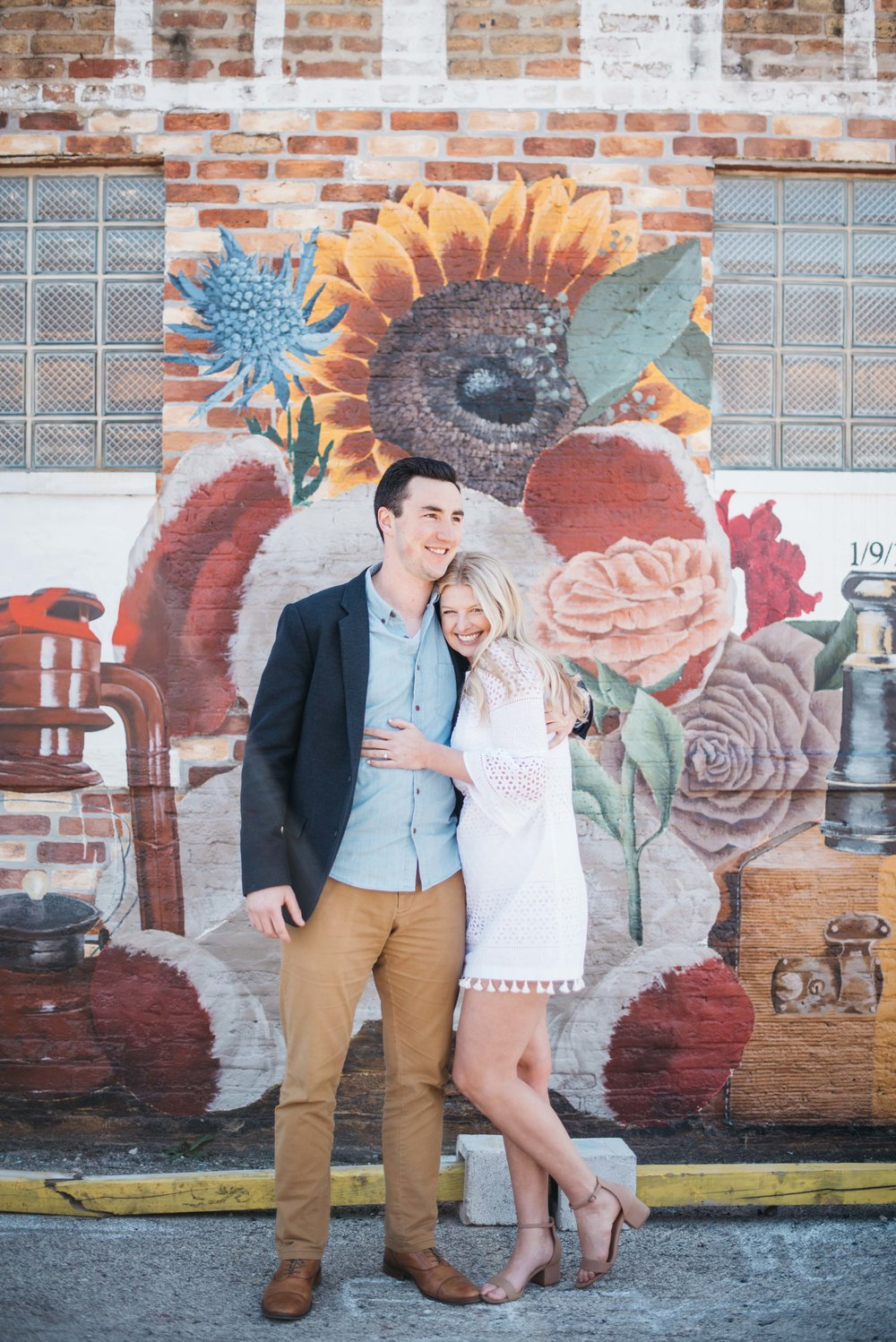 Logan Square Engagement Session Erika Aileen Photography