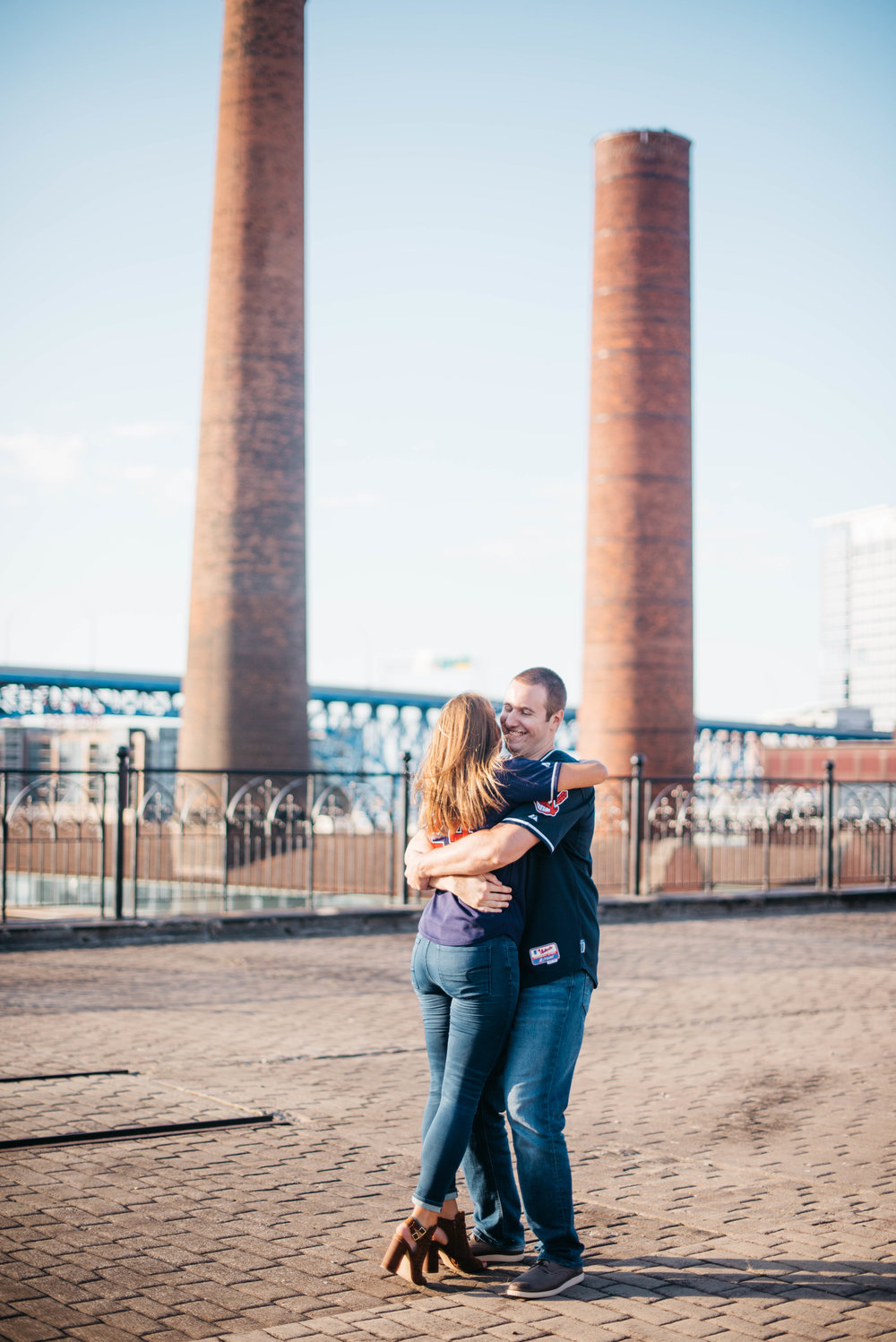 Ohio City and The Flats Cleveland Engagement Session Erika Aileen Photography Midwest and Destination Wedding Photographer