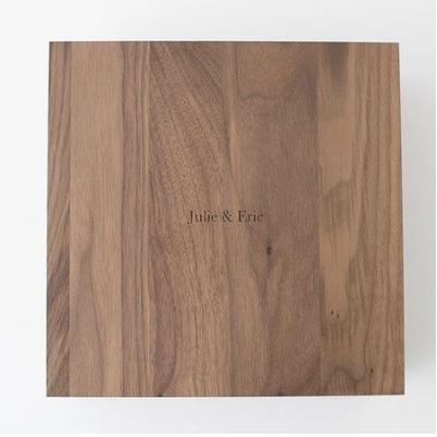 """Walnut Wood Box +$250 (8"""") +$275 (10"""") +$325 (12"""")"""
