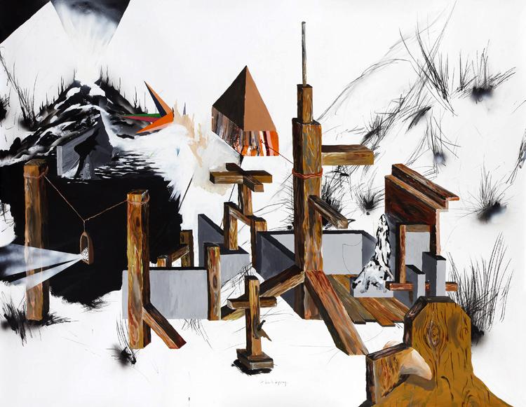 Bo Christian Larsson  makes paintings.