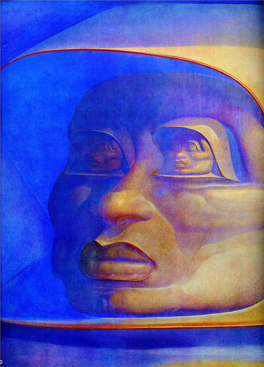 Ernst Fuchs, Observator Infinitor (Oil on canvas), 1972.