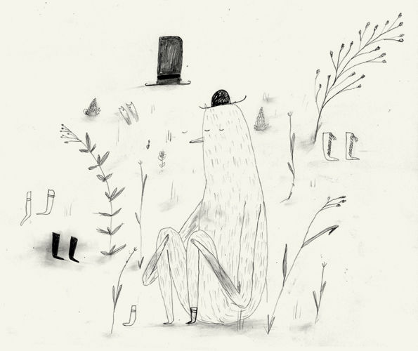 England based illustrator Jay Cover makes some great pencil drawings. Check out his other work as well, it's full of geometry and child's play.