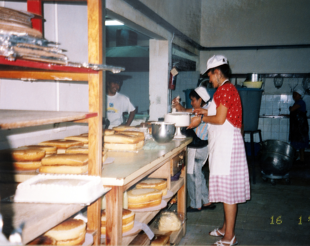 Production at Grandma's Bakery