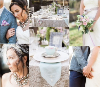 Spring Vintage Tea Garden Wedding