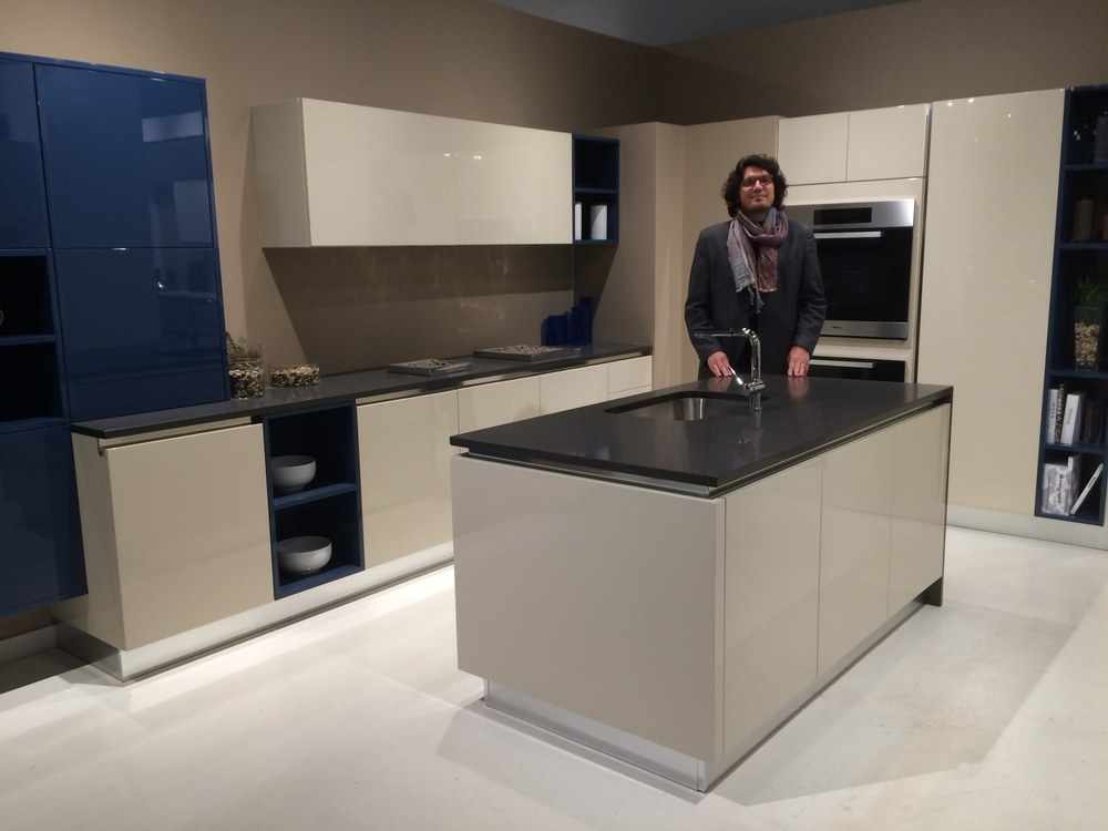 Andrea Ceccarelli, Export Manager and Marketing Consultant for Berloni, at the EuroAmerica Showroom.
