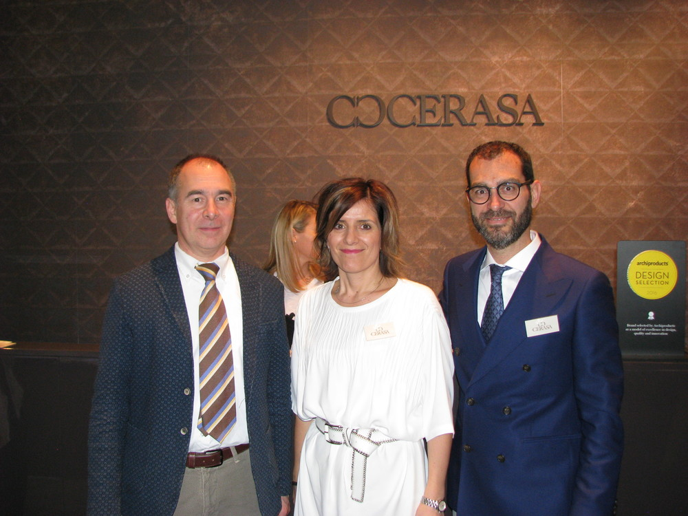 Giulio Botteon, Export Manager for Cerasa.  Magali Zarpellon and Roberto Riboldi owners of Cerasa.
