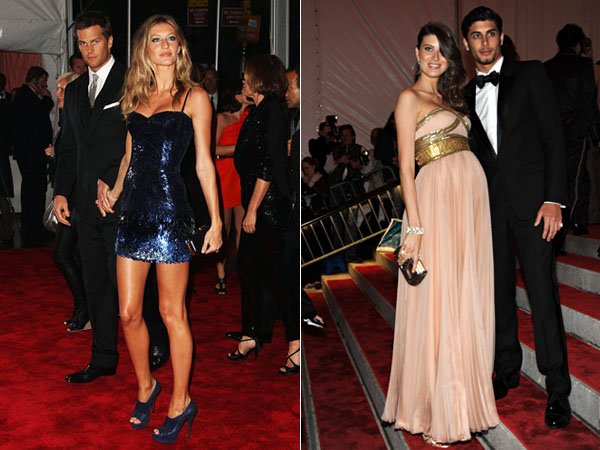 The Best-Dressed List fixture couple Gisele Bundchen & Tom Brady and a very pregnant Michelle Alves with her friend, Jesus Luz.