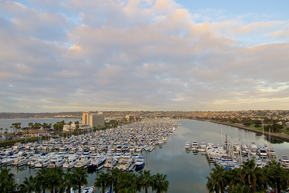 Morning over San Diego Harbor