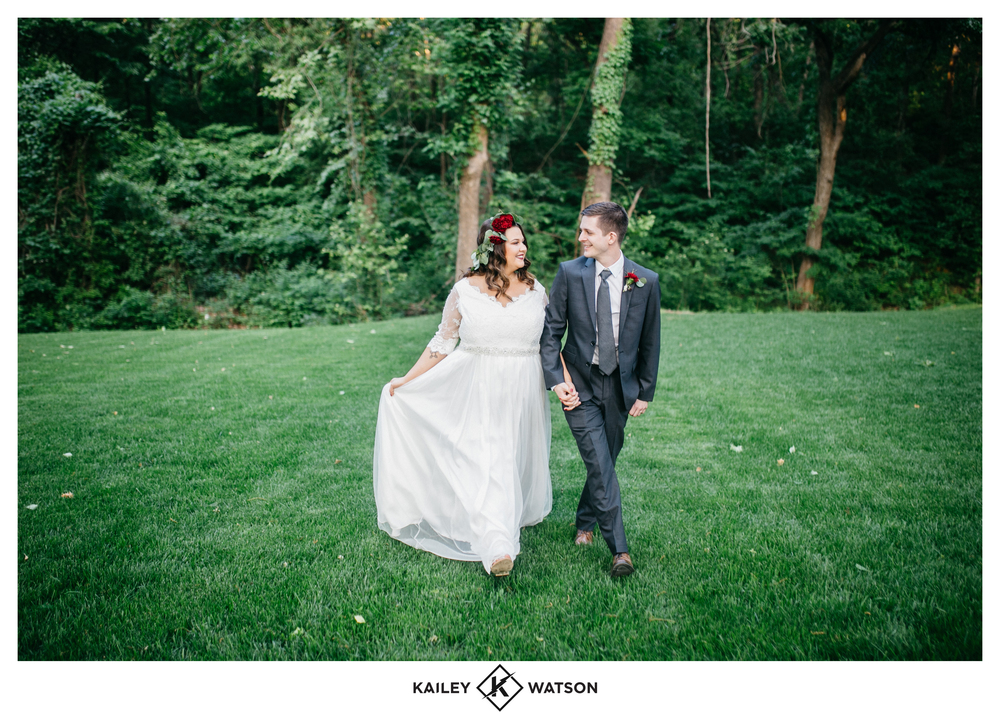 Bridal Couture by Sonni custom lace wedding dress calleigh bride and groom