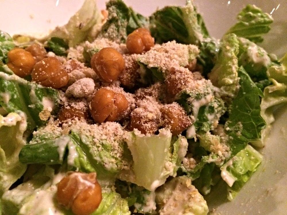 Caesar Salad with Roasted Chickpeas