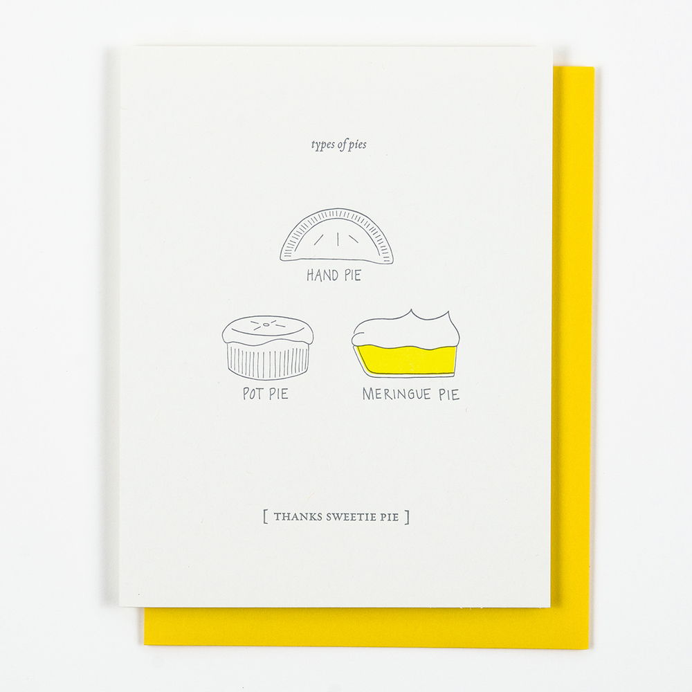 Thanks Sweetie Pie Card — Nourishing Notes