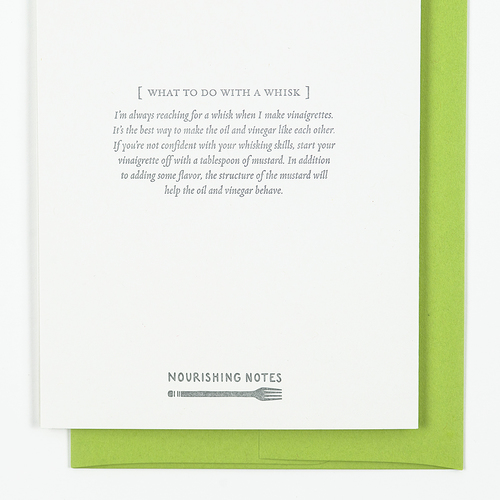Whisk Birthday Card Nourishing Notes – Notes for Birthday Cards