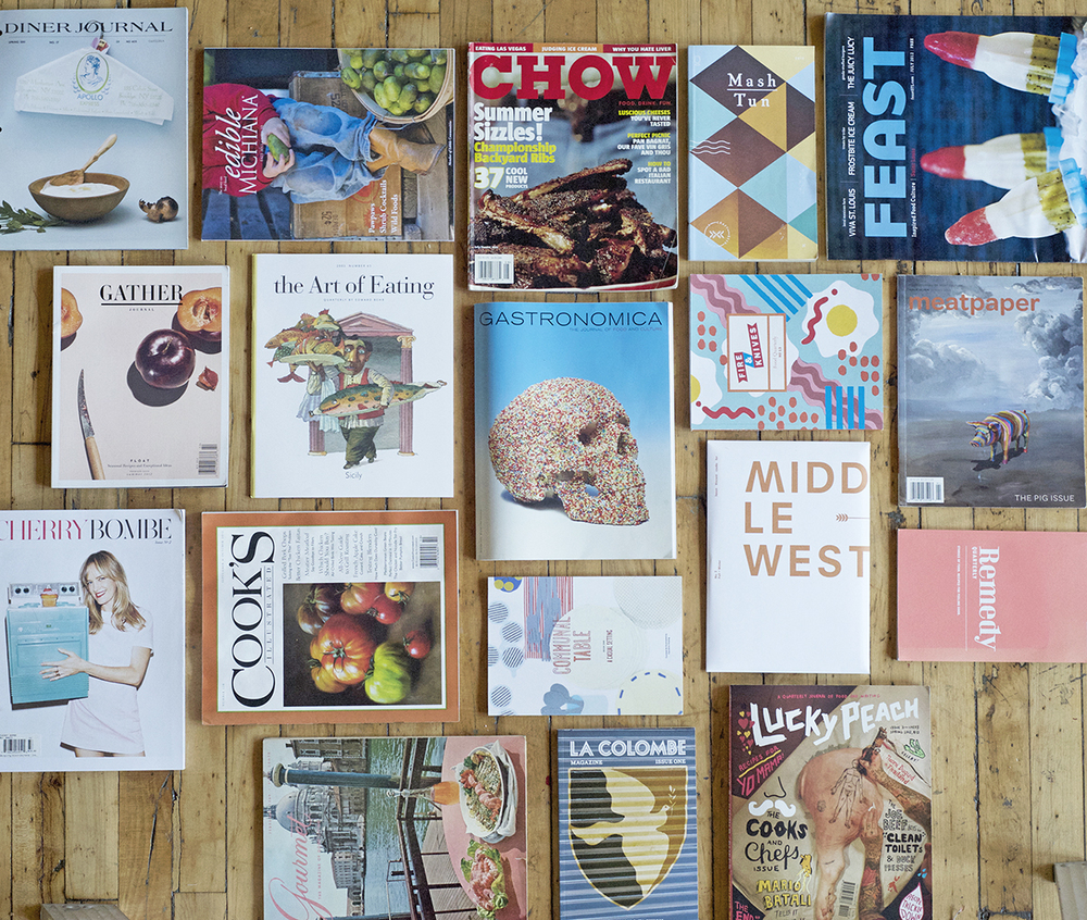 A small sampling of just some of our favorite food publications.