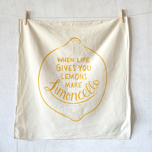 Purchase our limoncello kitchen towel here and the letterpress print here
