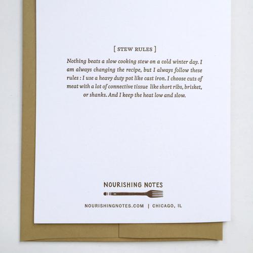 Stewpid Birthday Card Nourishing Notes