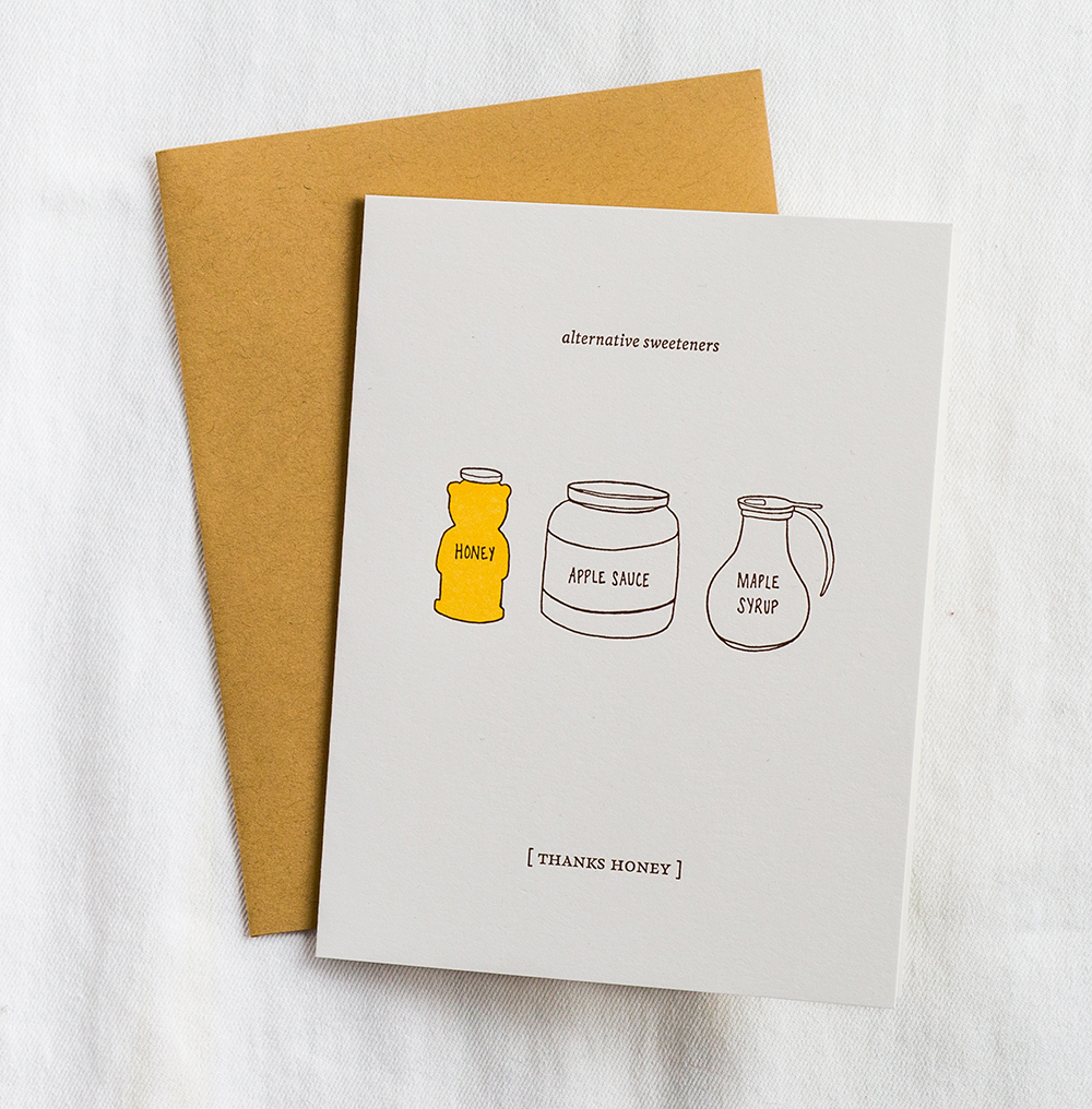 "Our ""Thanks Honey"" greeting card is available for purchase  here"
