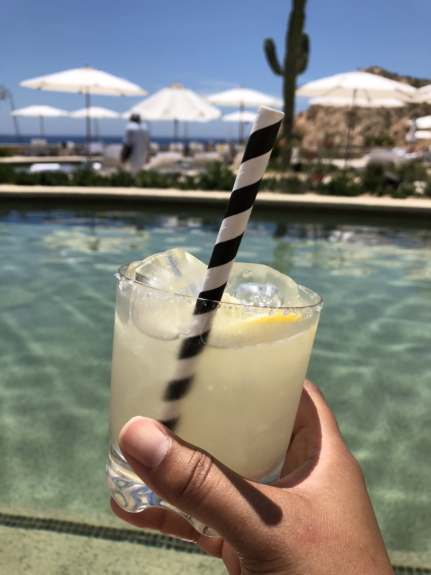 Salud! Such a great Margarita at the Montage Pool!