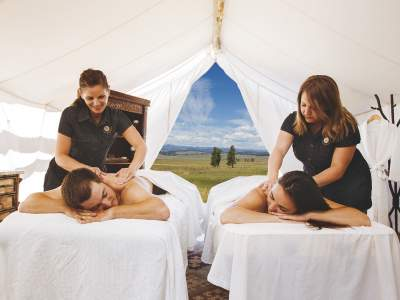 Couples Massage in Tent