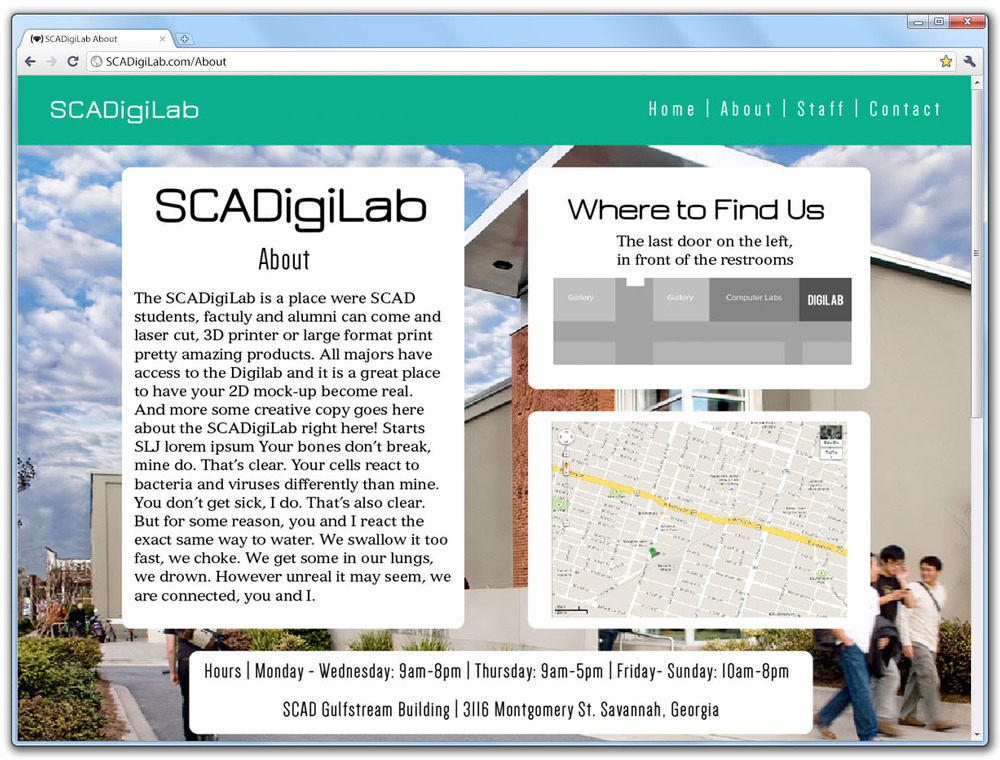 SCAD DigiLab About Page