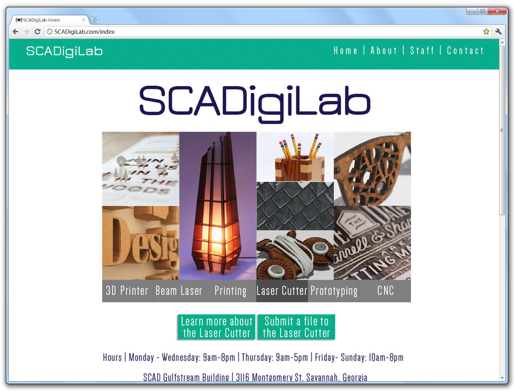 SCAD DigiLab Home Page