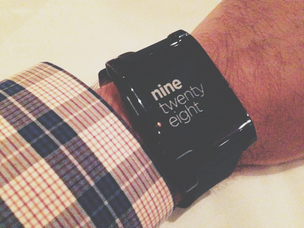 Pebble smartwatch formal clothes