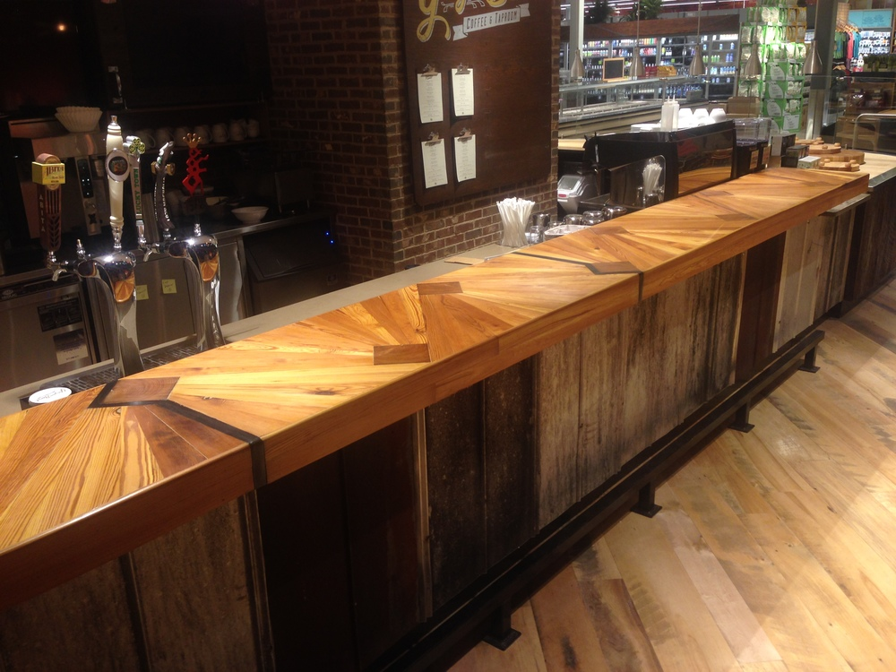 """Mississippi Delta"" bar top design"