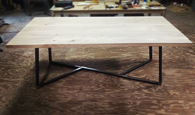 Tupelo table in the works with custom base #localwood #woodworking #designbuild