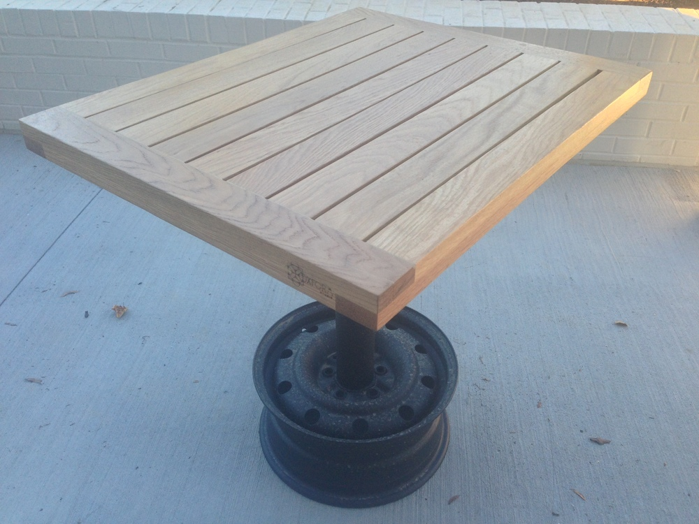 white oak - exterior two-top tables