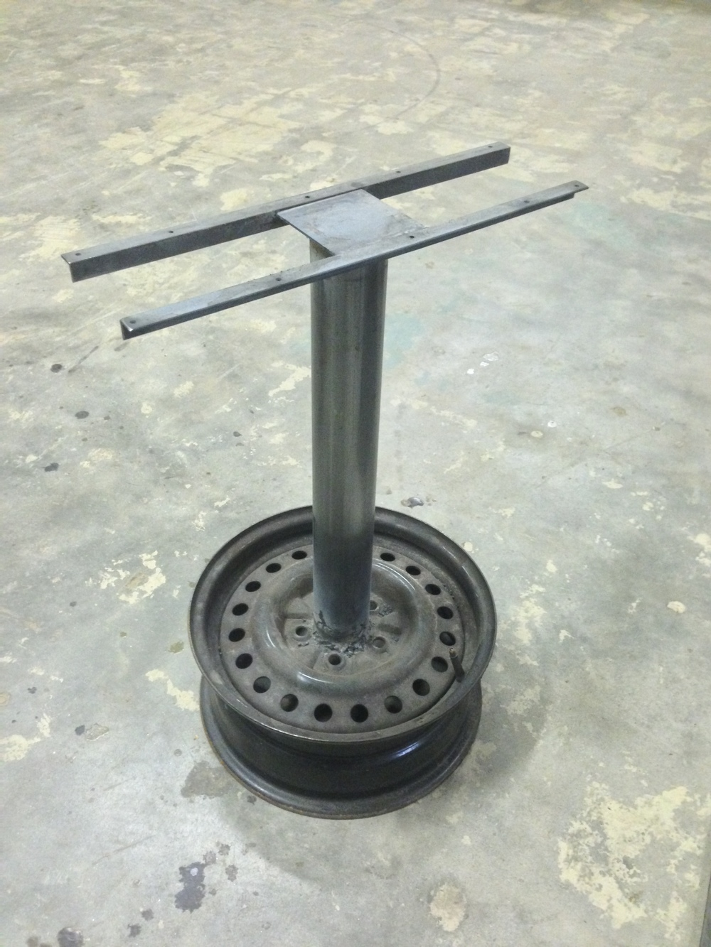 custom fabricated table base