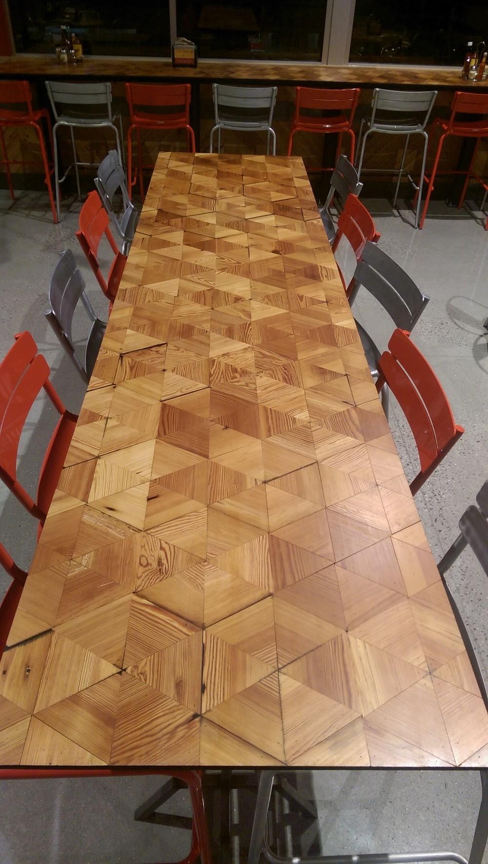 ten-top tall table