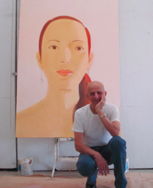 Modeling for Alex Katz, 2004 NYC