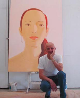Portrait by Alex Katz, 2004 NYC